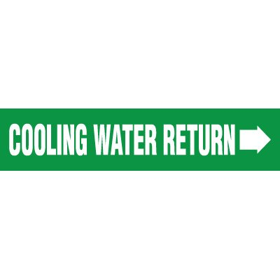 Cooling Water Return Pipe Markers