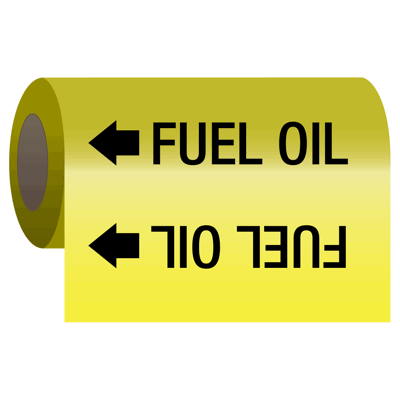 Fuel Oil - Self-Adhesive Pipe Markers-On-A-Roll