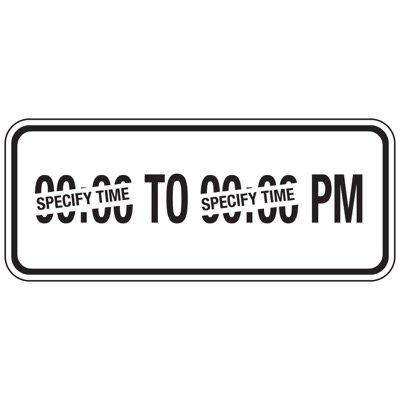 PM Parking Hours - Semi-Custom School Parking Signs