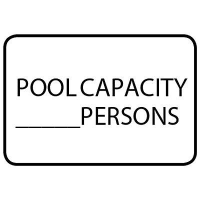 Pool Capacity - Semi-Custom Pool Signs