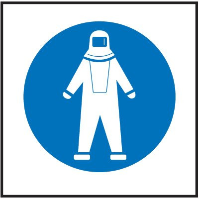 Full Protection Suit Right-To-Know Labels