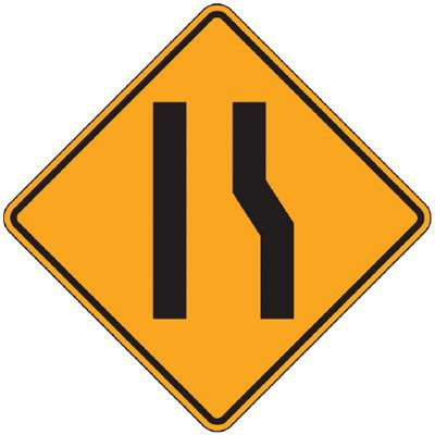 Reflective Warning Signs - Merging Lane (Symbol)