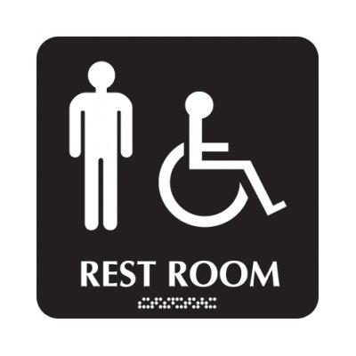 Rest Room (Men/Accessibility) - Optima ADA Restroom Signs