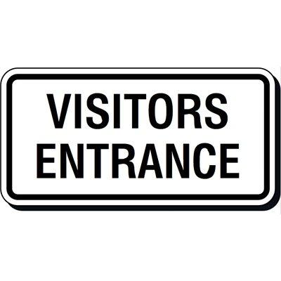 Reflective Parking Lot Signs - Visitors Entrance