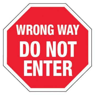 Reflective Traffic Reminder Signs - Wrong Way Do Not Enter