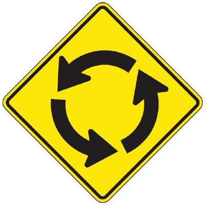 Reflective Warning Signs - Traffic Circle (Symbol)