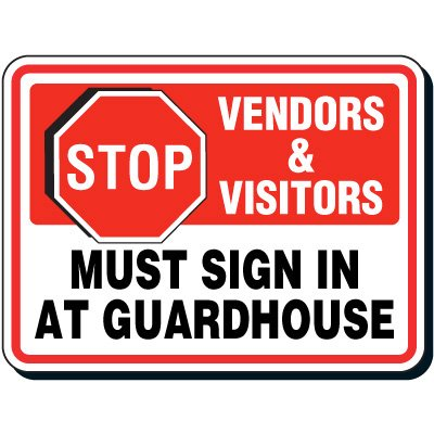 Shipping & Receiving Signs - Stop Vendors And Visitors