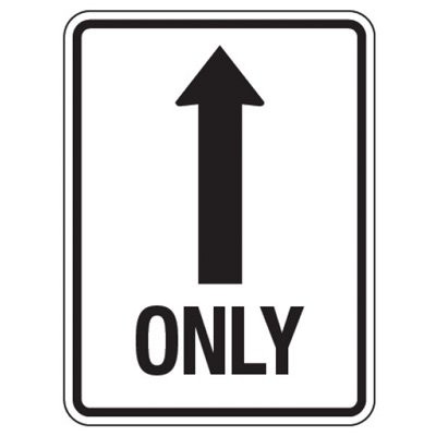Reflective Traffic Reminder Signs - Only (With Arrow Up)