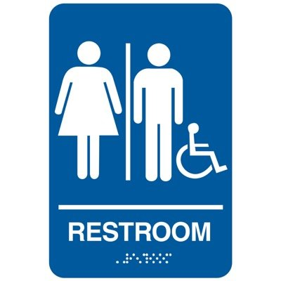 Restroom (Accessibility) - California Code Economy Restroom Signs