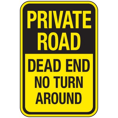 Reflective Traffic Reminder Signs - Private Road