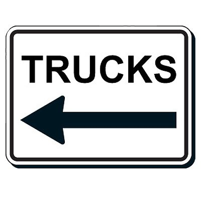 Shipping and Receiving Signs - Trucks (With Arrow)