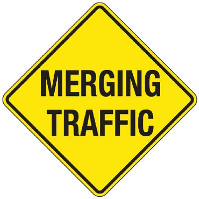 Reflective Warning Signs - Merging Traffic