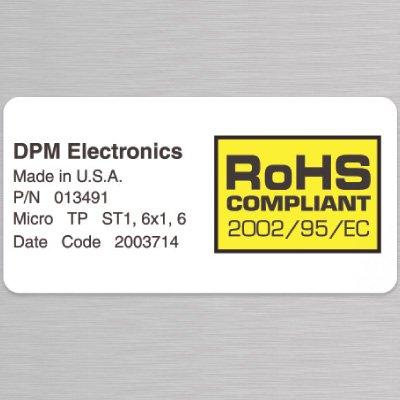 Custom RoHS Labels