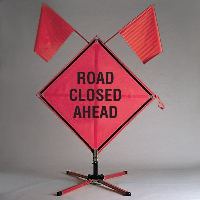 Roll Up Signs - Road Closed Ahead - TrafFix Devices 26036-EFO-HF