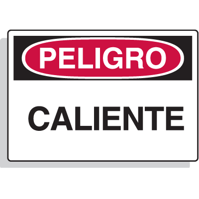 Spanish Hazard Warning Labels - Peligro Caliente