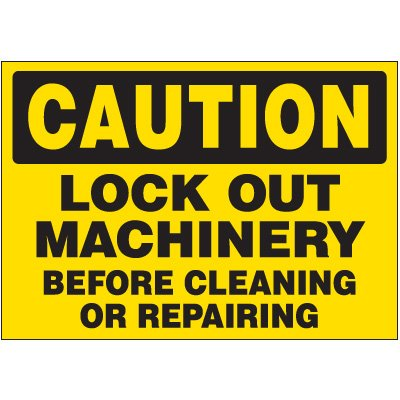 Lock-Out Labels - Caution Lock Out Machinery