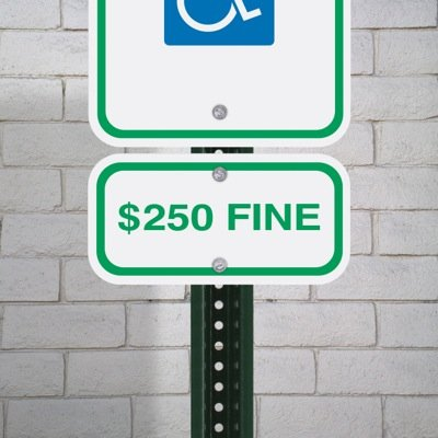 State-Specific Handicap Parking Signs - Illinois