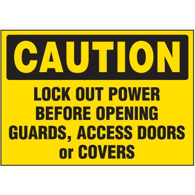 Lock-Out Labels - Caution Lock Out Power
