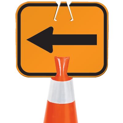 Snap-On Cone Sign - Arrow - Arrow Sign A100