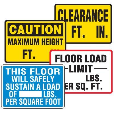 Semi-Custom Warehouse Signs