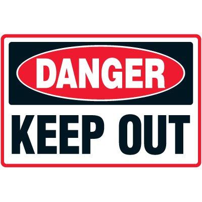 Danger Keep Out Floor Marker