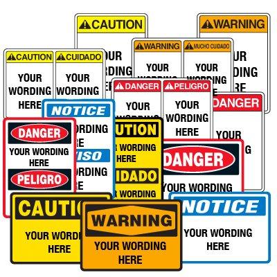 Semi-Custom Machine Hazard Signs