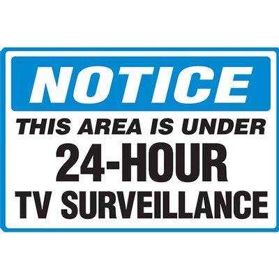 Notice TV Surveillance Floor Marker
