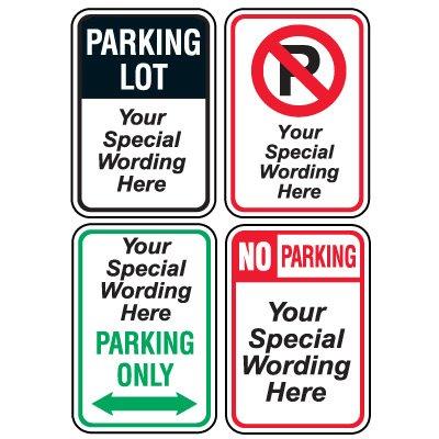 Semi-Custom Worded Signs - General Parking Lot