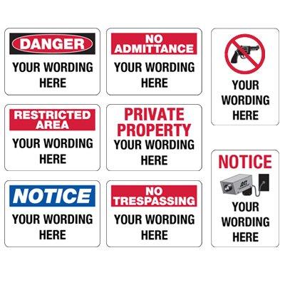 Semi-Custom Security Signs