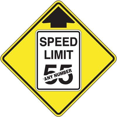 Semi-Custom Reduced Speed Ahead Sign