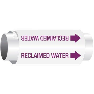 Reclaimed Water - Setmark® Snap-Around Pipe Markers