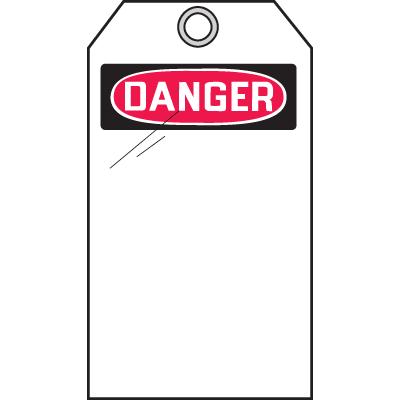Self-Laminating Tags - Danger Header Only