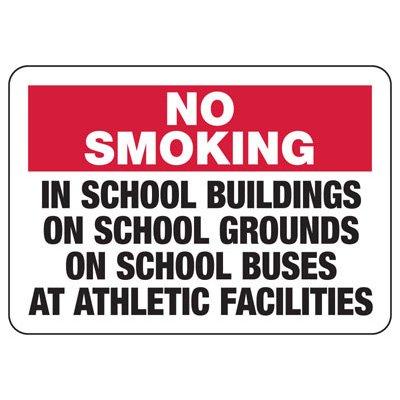No Smoking School Areas Sign