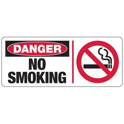 Danger No Smoking Sign