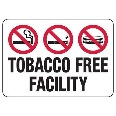 No Smoking Signs - Tobacco Free Facility