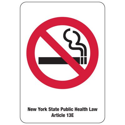 New York No Smoking Symbol Sign