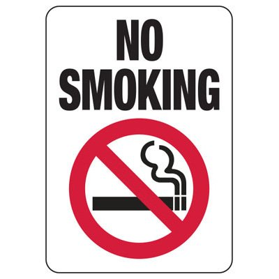 California / Colorado No Smoking Sign