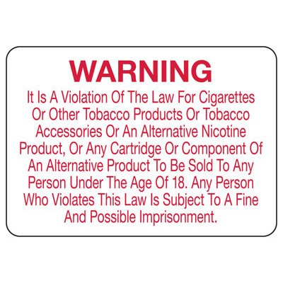 Smoke-Free Electronic Cigarette Policy Signs- Chicago
