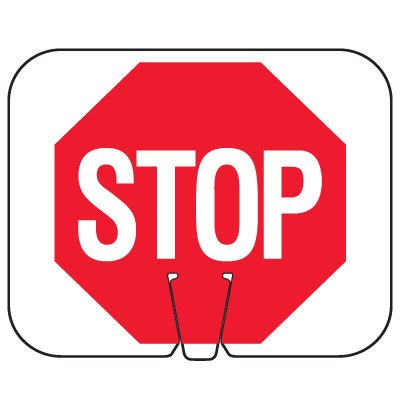 Plastic Traffic Cone Signs- Stop