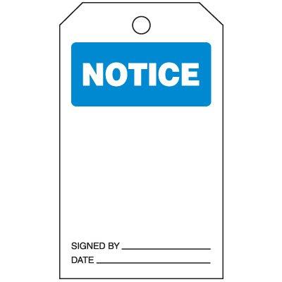 Notice Tag