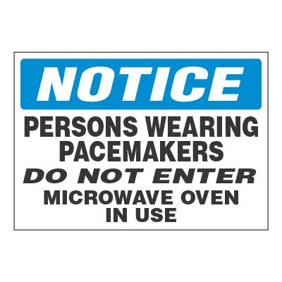 ToughWash® Adhesive Signs - Persons Wearing Pacemakers
