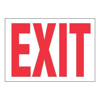 ToughWash® Adhesive Signs - Exit