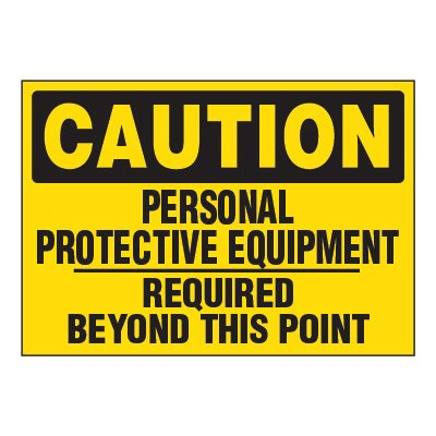 ToughWash® Adhesive Signs - Personal Protective Equipment