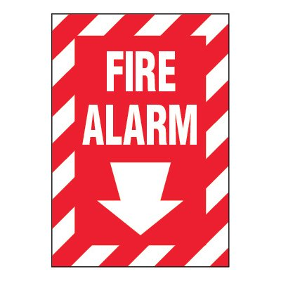 ToughWash® Adhesive Signs - Fire Alarm