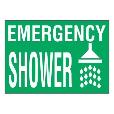 Super-Stik Signs - Emergency Shower