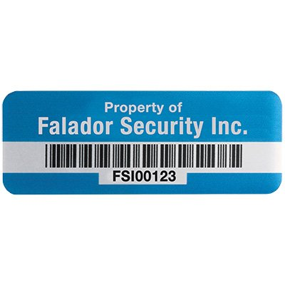 UltraGuard™ Custom Bar Code Asset Tags