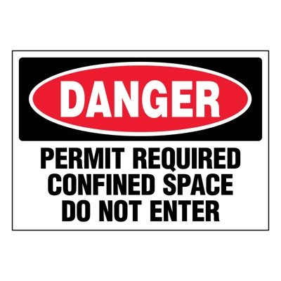 Super-Stik Signs - Danger Permit Required Confined Space