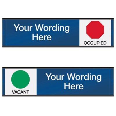Vacant/Occupied - Semi-Custom Engraved Sliders