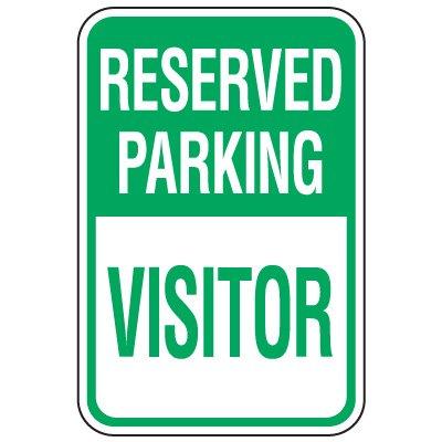 Visitor Parking Signs - Reserved Parking Visitor