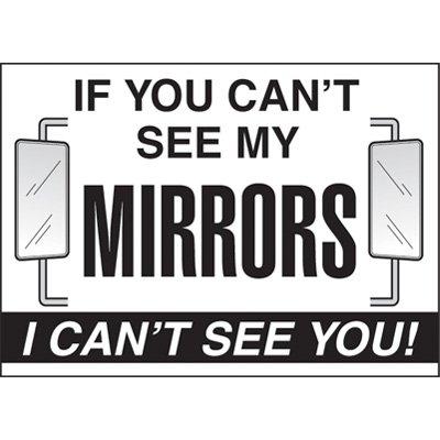 Mirror Visibility Vehicle Warning Labels